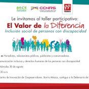 Taller para comunicadores: inclusión social de personas con discapacidad